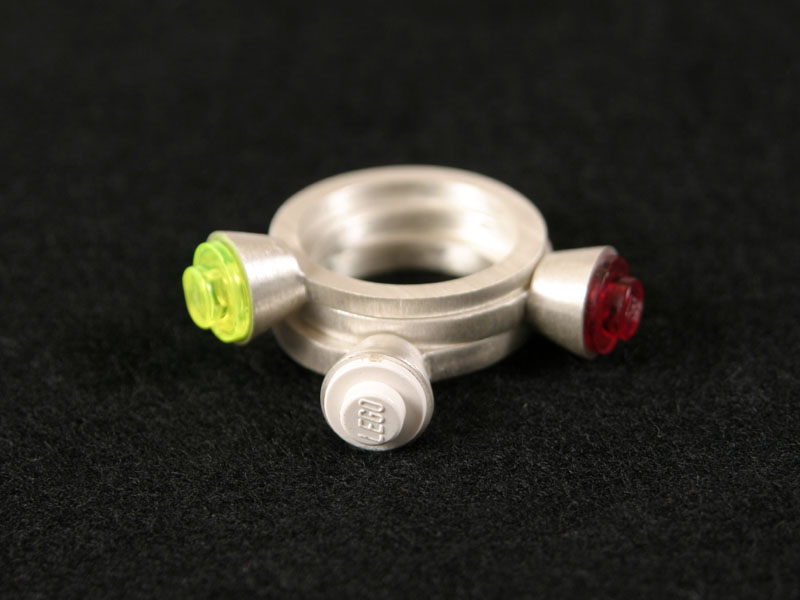 single-stud Lego rings by Thera Ip :  lego rings jewelry jewellery